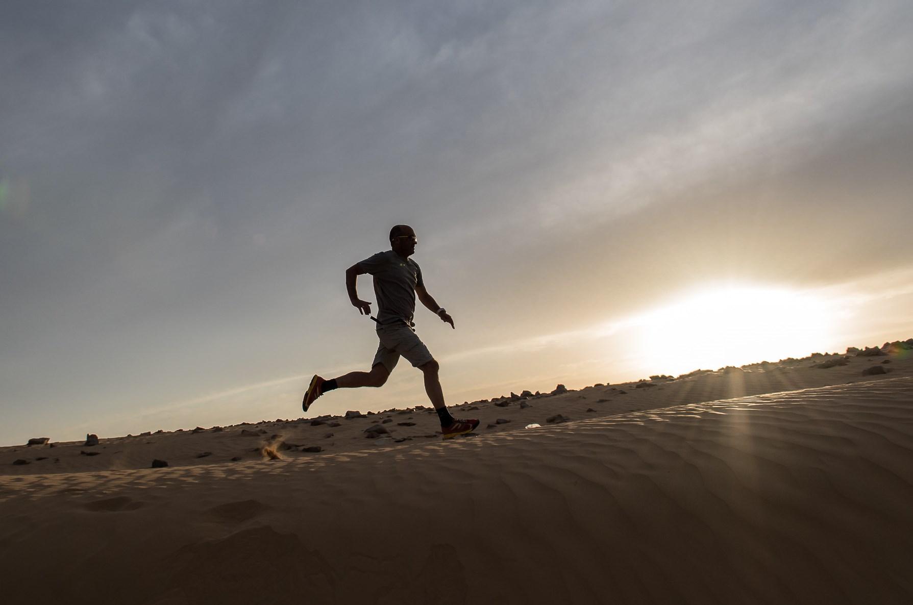 Running through the Kasoi Dunes