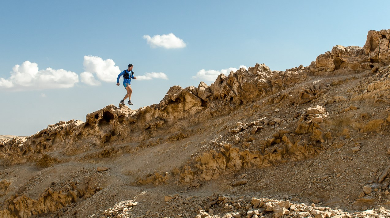 Running Mount Ardon in the Ramon Crater