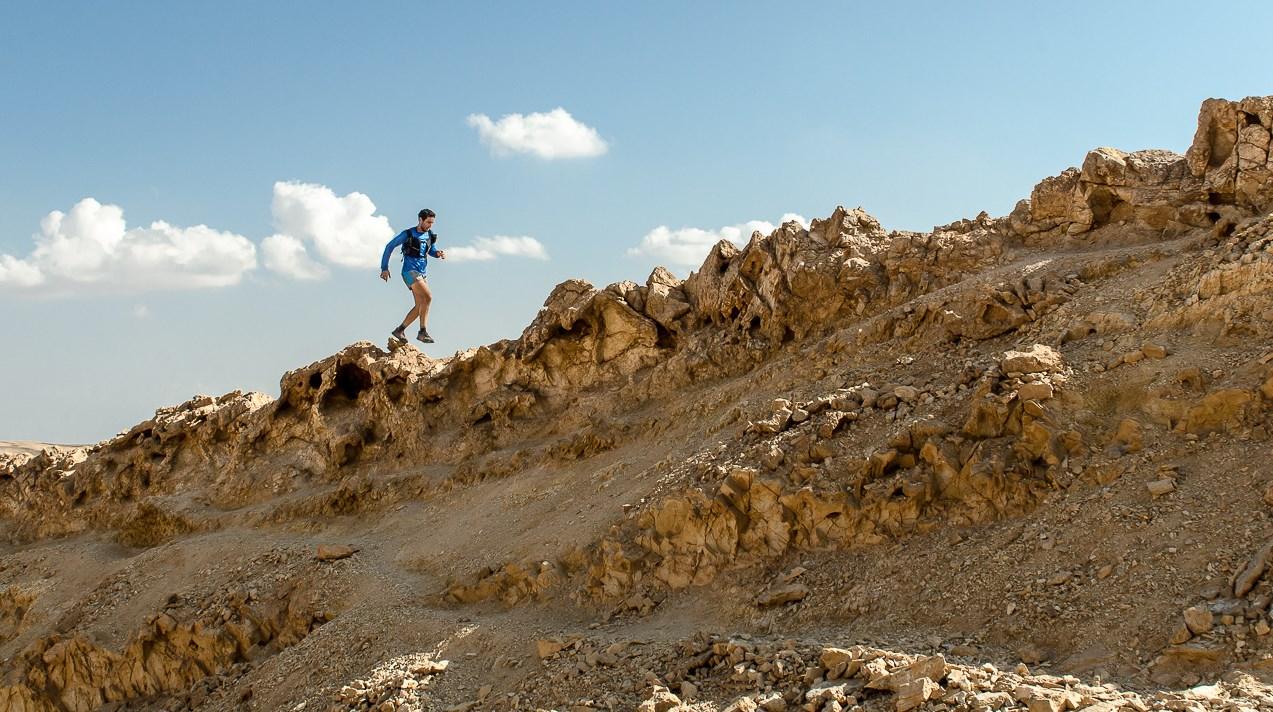 Running Mount Ardon in the Ramon Crater